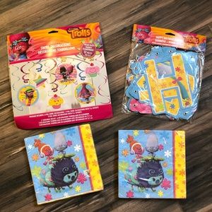 NWT 'Troll's' Birthday Party Supplies